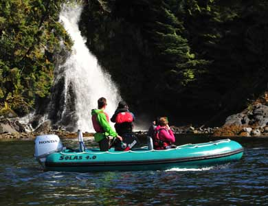 White water tidal flows on a Ketchikan Sea Kayak Tour