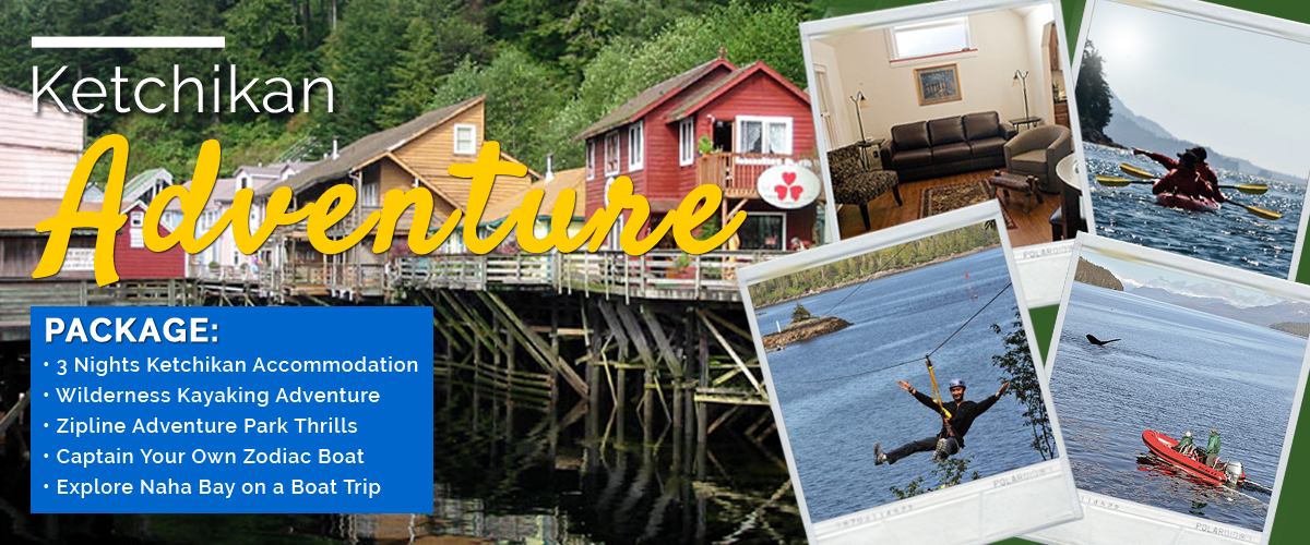 Ketchikan Lodging Adventure Package Collage