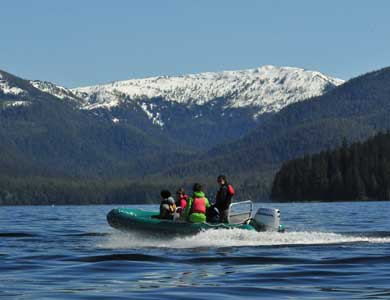 Beautiful scenery on a Ketchikan Alaska Zodiac Tour
